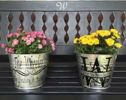 personalized flower pot personalized pot etsy