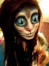 Scary Alice Wonderland Halloween Costume Cheshire Cat Face Paint Google Fancy Dress