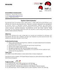 download unix system administration sample resume