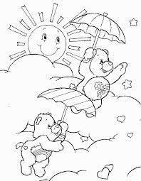 7 care bears coloring pages images draw care