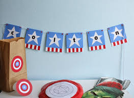 Captain America Decor Pieces Of Me Captain America Birthday Party