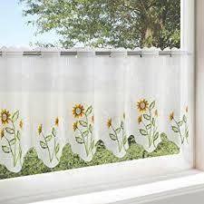 scheibengardine küche de scheibengardine sonnenblumen für küche und wohnzimmer