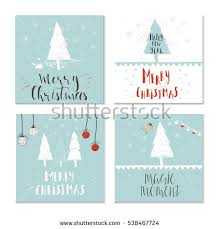 sweet christmas gifts wallpapers set 4 cute christmas cards quote stock vector 538467586 shutterstock