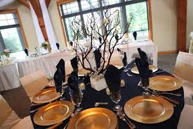 Gold Table Centerpieces by Centerpieces Weddingbee Photo Gallery