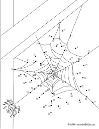 spider web dot to dot game coloring pages hellokids com