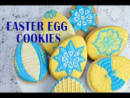 Easter Icing Decorations by Decorated Easter Egg Cookies Haniela U0027s Youtube