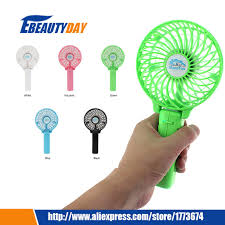 hand held battery fan mini hand fan held electric air plastic rechargeable