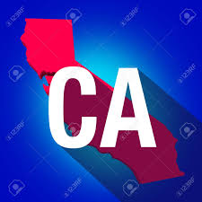Map Letters California Ca Letters On A 3d Map Of The State As Part Of The
