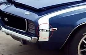 1969 camaro fender 1969 camaro fender emblem 427 engine size pair