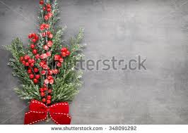 tree branch decor christmas tree branch decor on vintage stock photo 348091292