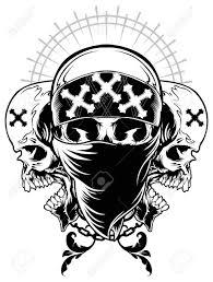 gangster drawings of skulls with guns 36 gangster skull