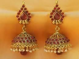 kempu earrings buy beautiful real kempu jhumkas online in india at cooliyo