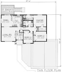 split level house plan attractive split level house plan 14003dt architectural