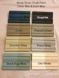 decor amore my annie sloan chalk paint color boards paint