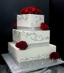 Red And Silver Wedding Best 25 Red Square Wedding Cakes Ideas On Pinterest Square