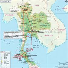 Map Of Thailand Thailand The Country Of U0027a Million Smiles U0027 The World In A Backpack