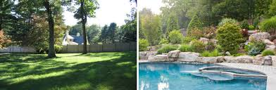 cording landscape design pool construction before and after