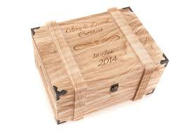 engraved memory box personalised wooden wedding gift keepsake box imbusy for