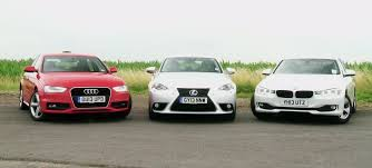 audi a4 vs lexus is350 2013 bmw 320d vs 2014 lexus is300h comparison test autoevolution