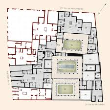 Floor Plan Of The House Casa Del Citarista Pompeii On Behance