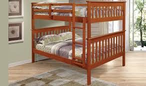 bunk beds donco kids full over bed idolza