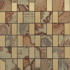 metal wall tiles kitchen backsplash peel and stick tile gold aluminum metal wall tile brick adhsive