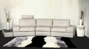 Gray Leather Sectional Sofa by Modi Sectional Sofa By Beverly Hills In Light Gray Leather