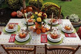 outdoor thanksgiving an autumn tablescape roundup belle bleu interiors