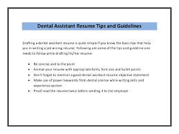 Good Dental Assistant Resume Dental Assistant Resume Sample Pdf