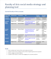 media plan template social media framework1 social media strategy