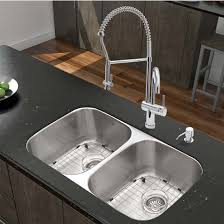 Kitchen Sink And Faucet Sets by Vigo All In One Kitchen Set With Wide Radius 32
