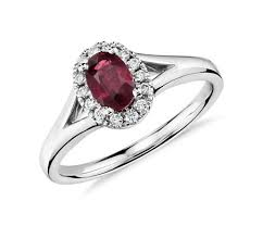 ruby diamond ring oval ruby and diamond halo ring in 18k white gold 6x4mm blue nile