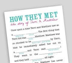 wedding mad libs template how to make your own wedding mad libs 5 guides daily wedding tips