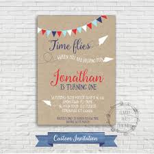 Editable 1st Birthday Invitation Card Airplane Birthday Invitation Paper Airplane First Birthday 1st