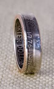 52nd wedding band 39 best silver quarter coin ring images on coin ring