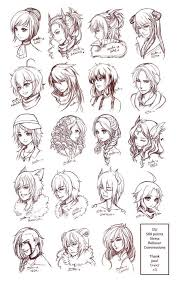 shonen hairstyles anime hairstyles art drawings drawing hair hairstyles