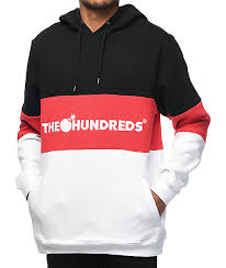 the hundreds canal black red u0026 white hoodie zumiez