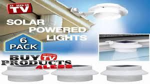 6 pack deal outdoor solar gutter led lights