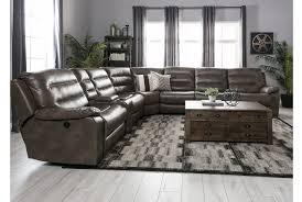 Seven Piece Reclining Sectional Sofa by Lachlan 7 Piece Sectional W 2 Armless Chairs Living Spaces