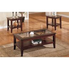 wood coffee table with glass top glass coffee table sets you ll love wayfair