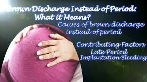 brown discharge instead of period what it means youtube