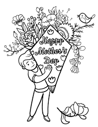 mother s day coloring sheet free happy s day coloring page