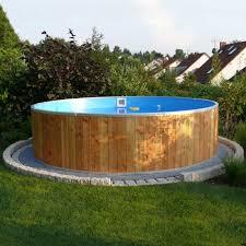 rivestimento in legno per piscine fuori terra piscina fuori terra steel wood 纔 4 50 h 1 20 m bsvillage