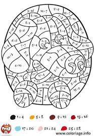 Coloriage magique addition math tfou  JeColoriecom