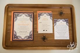 jennifer stephen u0027s elegant halloween wedding invitation suite