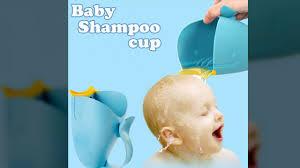 new head shape baby bath caps shampoo cup children bathing baby
