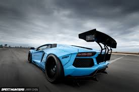 blue lamborghini wallpaper blue shark attack lb works u0027 aventador speedhunters