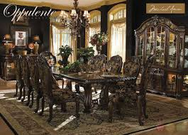 How To Set A Formal Dining Room Table Michael Amini Oppulente Luxury Formal Dining Room Set By Aico