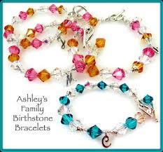 custom birthstone bracelets handmade birthstone jewelry for women men or children