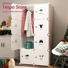 portable clothes closet wardrobe by tespo freestanding storage